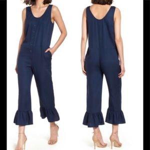 Chelsea28 crop leg Navy blue jumper